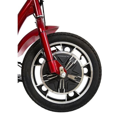 Drive Medical ZooMe 3 Wheel Scooter Front Wheel View