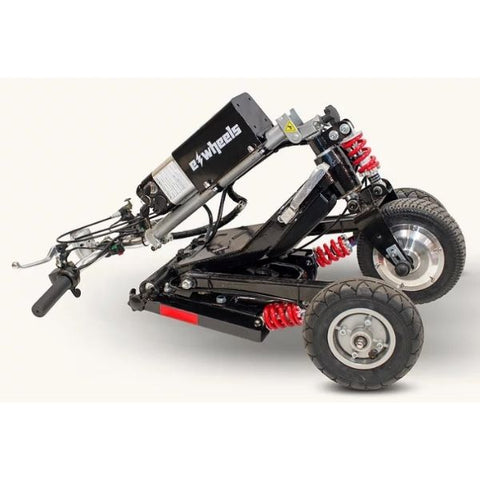 E-Wheels EW-07 EFORCE1 3-Wheel Scooter Black Folding View