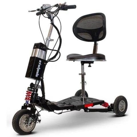 E-Wheels EW-07 EFORCE1 3-Wheel Scooter Black Front View