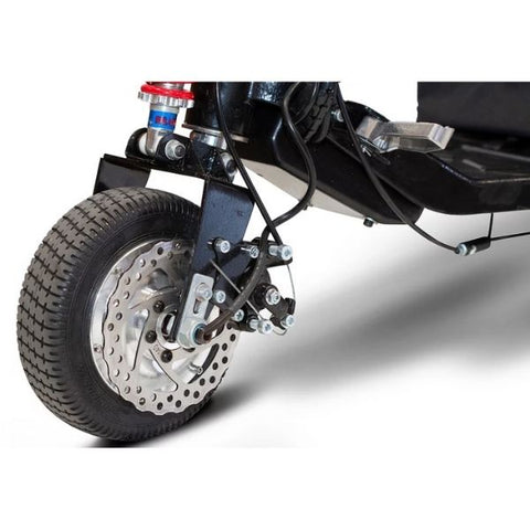 E-Wheels EW-07 EFORCE1 3-Wheel Scooter Front Tire View