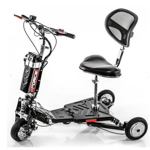 E-Wheels EW-07 EFORCE1 3-Wheel Scooter Left View