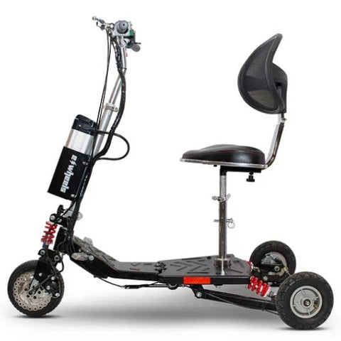 E-Wheels EW-07 EFORCE1 3-Wheel Scooter Black Side View
