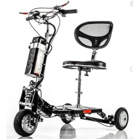 E-Wheels EW-07 EFORCE1 3-Wheel Scooter Silver Front View