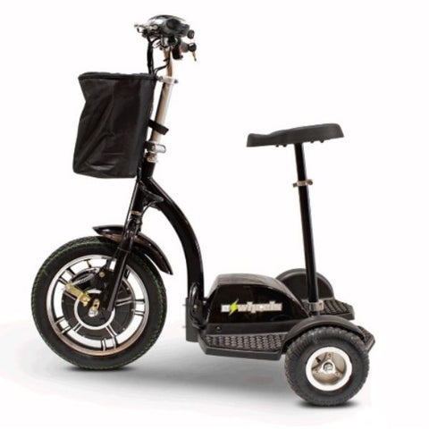E-Wheels EW-18 3-Wheel Scooter Black Left View