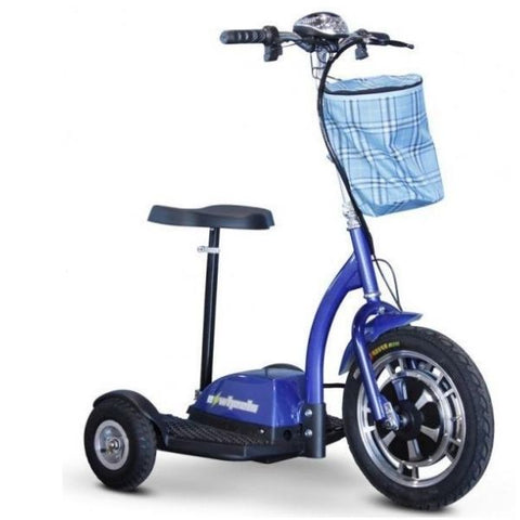 E-Wheels EW-18 3-Wheel Scooter Blue Right View