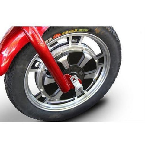 E-Wheels EW-18 3-Wheel Scooter Front Wheel View