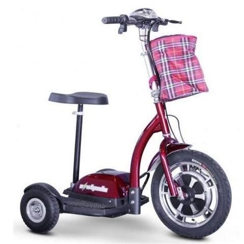 E-Wheels EW-18 3-Wheel Scooter Red Right View