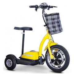 E-Wheels EW-18 3-Wheel Scooter Yellow Right View