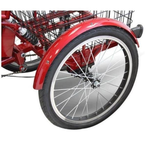 E-Wheel EW-29 Electric Trike Rear Wheel View