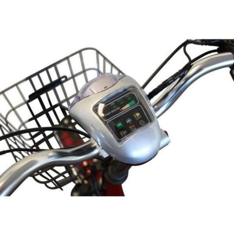 E-Wheels EW-29 Electric Trike Tiller and Basket View