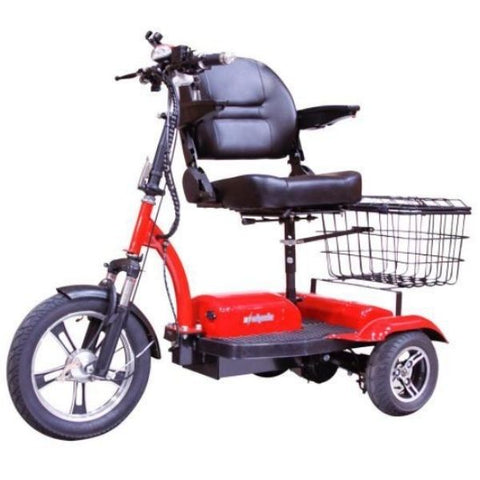 E-Wheels EW-32 Electric 3 Wheel Scooter Adjustable Seat and Rear Basket View