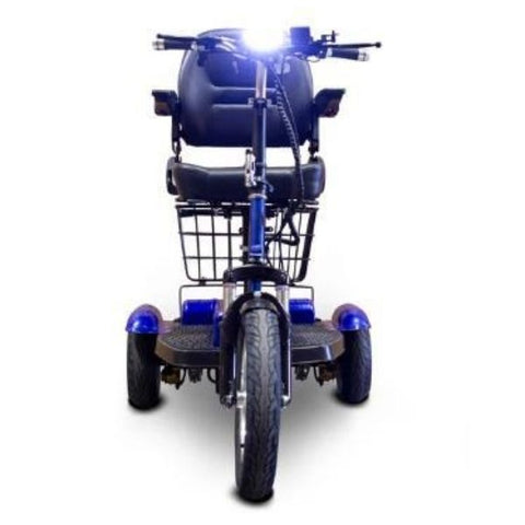 E-Wheels EW-32 Electric 3 Wheel Scooter Blue Front View