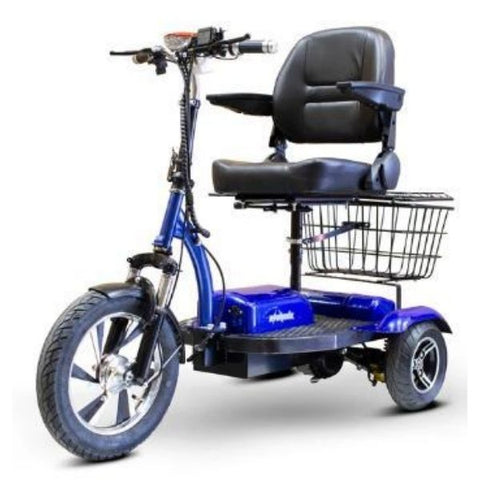 E-Wheels EW-32 Electric 3 Wheel Scooter Blue Left View