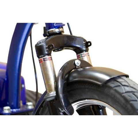 E-Wheels EW-32 Electric 3-Wheel Scooter Front Drum Brake View