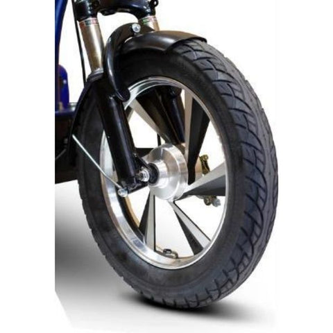 E-Wheels EW-32 Electric 3-Wheel Scooter Front Wheel View