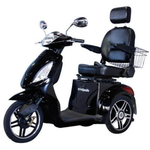 E-Wheels EW-36 3-Wheel Scooter Black Left View