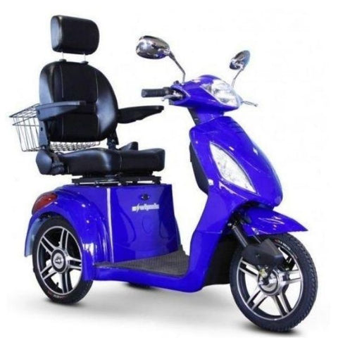 E-Wheels EW-36 3-Wheel Scooter Blue Right View