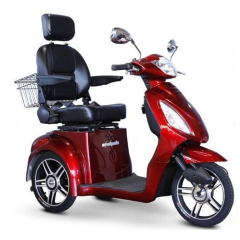 E-Wheels EW-36 3-Wheel Scooter Red Right View