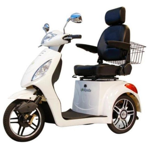 E-Wheels EW-36 3-Wheel Scooter White Left View