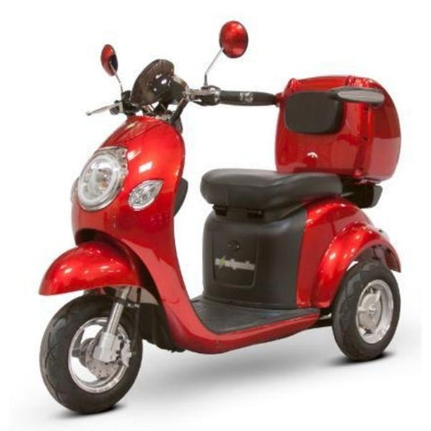 E-Wheel EW-37 Wheel Scooter Solid Red Left View