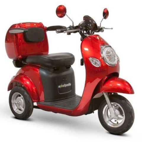 E-Wheels EW-37 3-Wheel Scooter Solid Red Right View