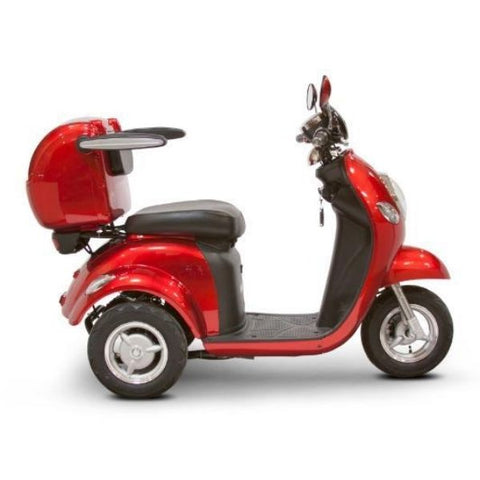 E-Wheels EW-37 3-Wheel Scooter Solid Red Side View