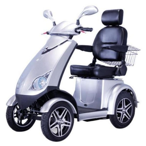 E-Wheels EW-72  4-Wheel Scooter - 500 lbs Silver Left View