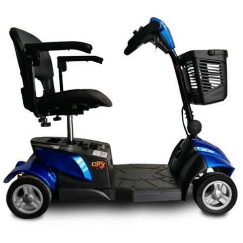 EV Rider Citycruzer Blue Side View