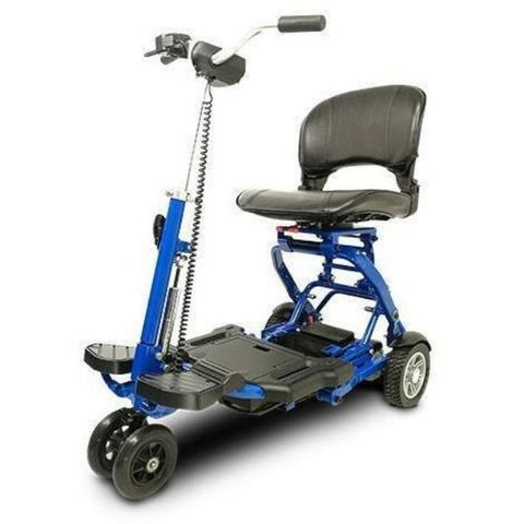 EV Rider MiniRider Folding Mobility Scooter Blue Front View
