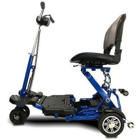 EV Rider MiniRider Folding Mobility Scooter Blue Side View