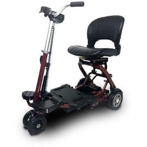 EV Rider MiniRider Folding Mobility Scooter Red Front View