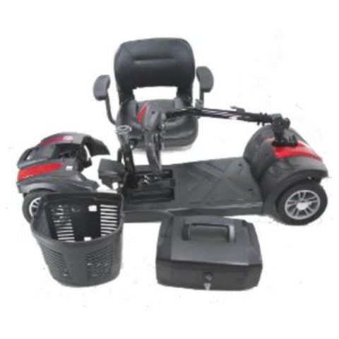EV Rider MiniRider Lite 4 Wheel Mobility Scooter Disassemble View