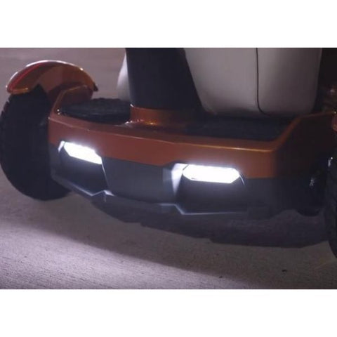 EV Rider TeQno AF Folding Mobility Scooter LED Headlights View