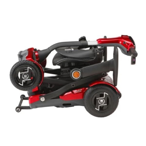 EV Rider TeQno AF Folding Mobility Scooter Red Folding View