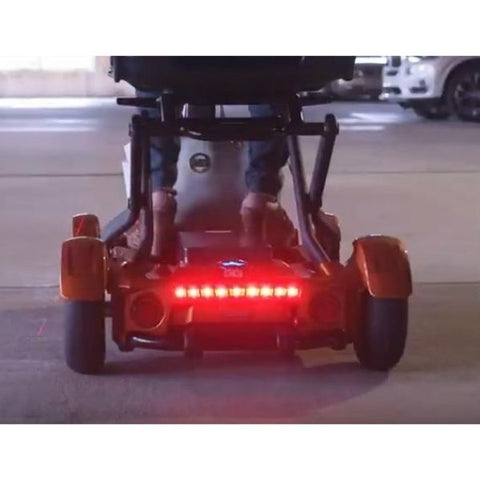 EV Rider TeQno AF Folding Mobility Scooter Warning Signal Lights View
