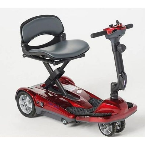 EV Rider Transport AF+ Deluxe Folding Electric Scooter Red Right View