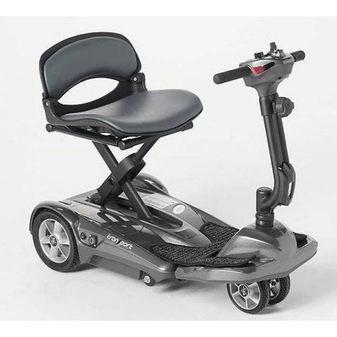 EV Rider Transport AF+ Deluxe Folding Electric Scooter Silver Right View