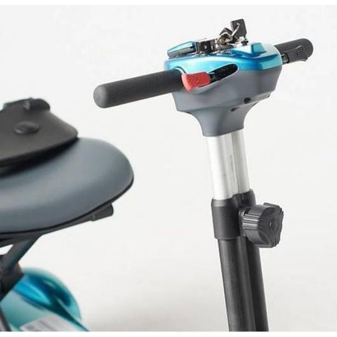 EV Rider Transport AF+ Deluxe Folding Electric Scooter Tiller Adjust Knob View