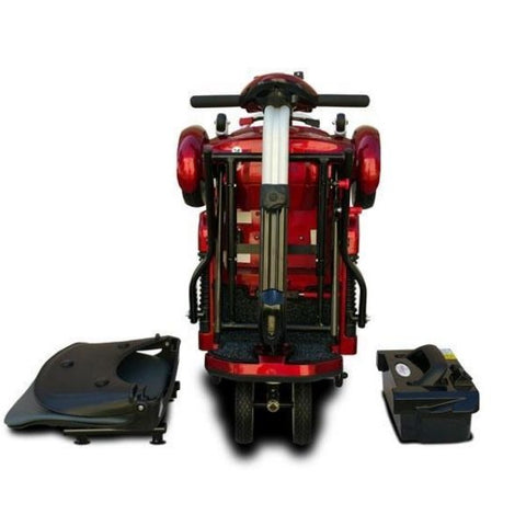 EV Rider Transport Plus Folding Mobility Scooter Folding View Seat and Battery View