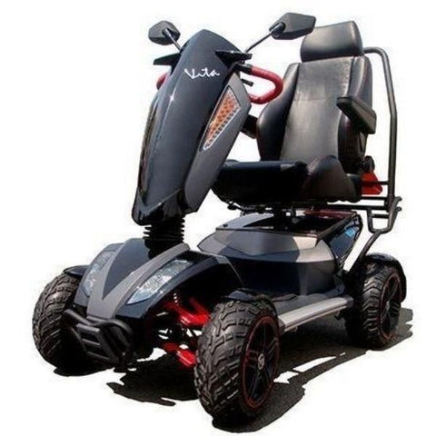 EV Rider Vita Monster 4 Wheel Scooter Heartway - S12X Black Front View
