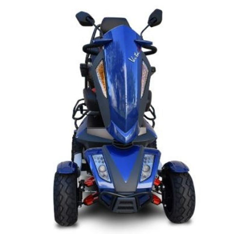 EV Rider Vita Monster 4 Wheel Scooter Heartway - S12X  Blue Front View