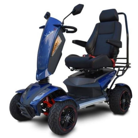 EV Rider Vita Monster 4 Wheel Scooter Heartway - S12X Blue Left Side View