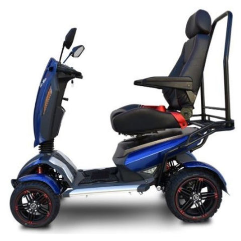 EV Rider Vita Monster 4 Wheel Scooter Heartway - S12X Blue  Side View