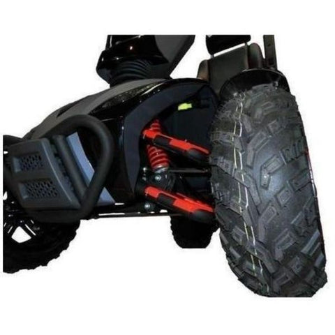 EV Rider Vita Monster 4 Wheel Scooter Heartway - S12X Front Wheel View