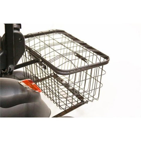 EWheels EW-20 Electric 3 Wheel Scooter Rear Storage Basket View