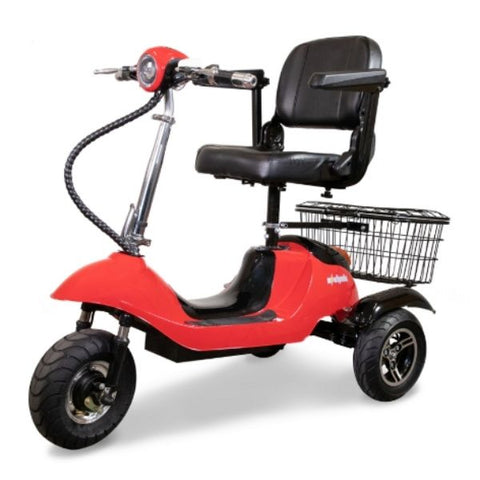 EWheels EW-20 Electric 3-Wheel Scooter Red Left View