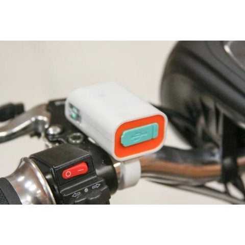 EWheels EW-20 Electric 3-Wheel Scooter USB Port View