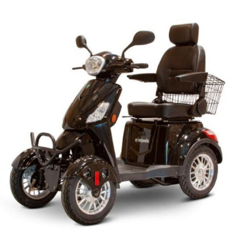 EWheels EW-46 Electric 4-Wheel Scooter Black Left View
