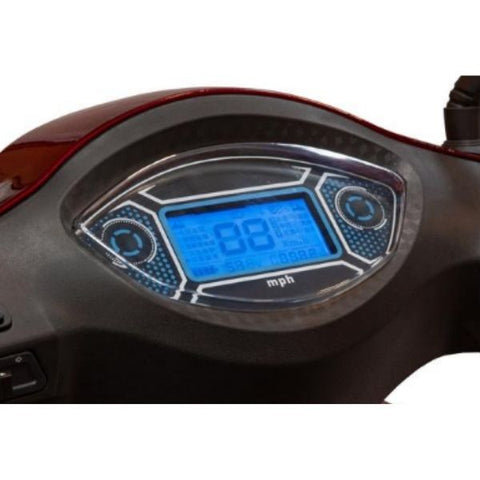 EWheels EW-46 Electric 4-Wheel Scooter Digital Dashboard View