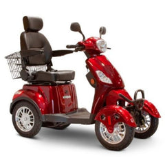 EWheels EW-46 Electric 4-Wheel Scooter Red Right View